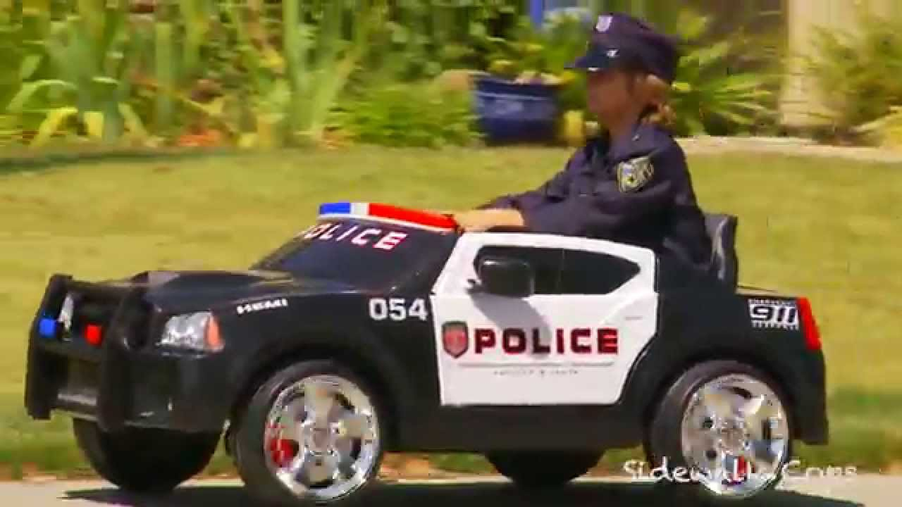 Kid Trax Police Dodge Charger Review Sidewalk Cops Car