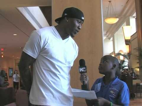 2010 Pro Bowl: Student Reporter Damon Weaver Interview with Brandon Marshall Video