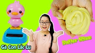 Thử Làm Slime Bơ = Đất Sét Gôm Tẩy Nhật Bản | Đồ Chơi Gà Con Lắc Lư