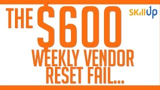 The Division | The $600 Weekly Vendor Reset Fail (and update on Patch 1.6 video)