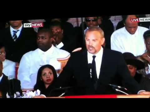 WHITNEY HOUSTON FUNERAL KEVIN COSTNER GIVES EULOGY ABOUT WHITNEY AT FUNERAL 18TH FEB 2012