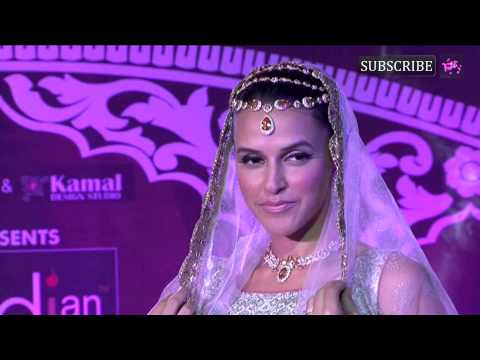 Neha Dhupia walks the ramp at Indian Wedding Couture show