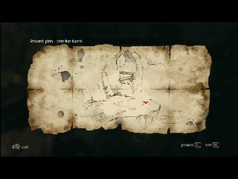 Assassin´s Creed 4 - Treasure Map - 479. 487 Smuggler´s Den