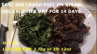 DAY 3 of my crash diet of 800 Calories a day for 14 days! Weightloss 1.7kg
