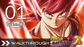 Dragon Ball Z: Battle of Gods - Dragon Ball Z Battle of Z Walkthrough Gameplay DBZ Story Mode - Part 1 (Saiyan Saga - Opening) HD 1080p English Dub PS3 Xbox 360 PS Vita No Commentary
