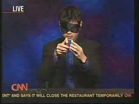 Tyson Mao solving Rubik's cube blindfolded on CNN