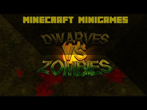 Minecraft Minigames: Dwarves Vs Zombies - NEW AWESOME SERVER!!