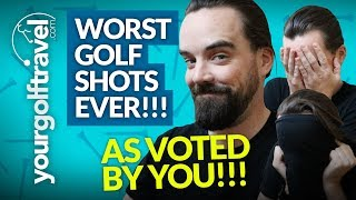 WORST GOLF SHOTS EVER: My Worst Shots on Youtube as Voted by YOU!! [+ Course Vlog Highlights]