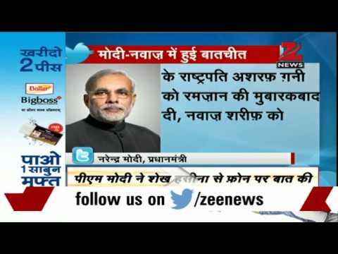PM Modi extends Ramzan greetings to Nawaz Sharif, Ghani and Hasina