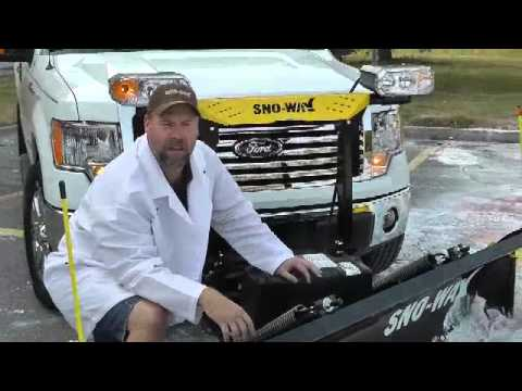 Sno-Way 26R snow plow fits on Ford F150 - YouTube