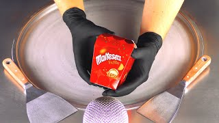 maltesers Ice Cream Rolls | fried Ice cream with Chocolate Truffles - oddly satisfying Food ASMR 4k