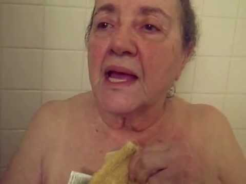 Mom Being Silly In The Shower... Really Silly! video