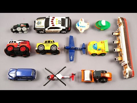 Learn Air Water Land Vehicles For Kids Children Babies Toddlers With Cars Bus Truck Ship Train Plane