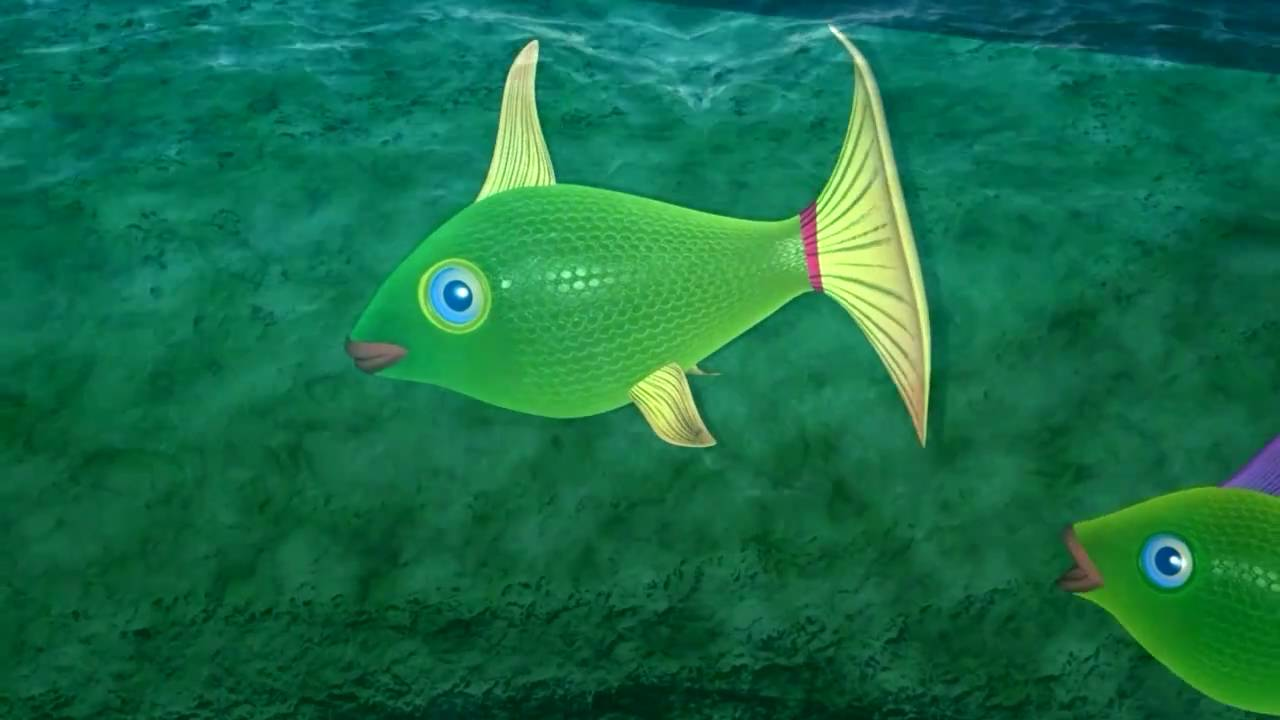 Flowing water 3d animation fish swimming 3d animation for Fish swimming video