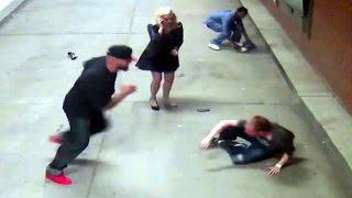 Nigpack Attack White Couple -LOOK White Man You CAN Fight Back!
