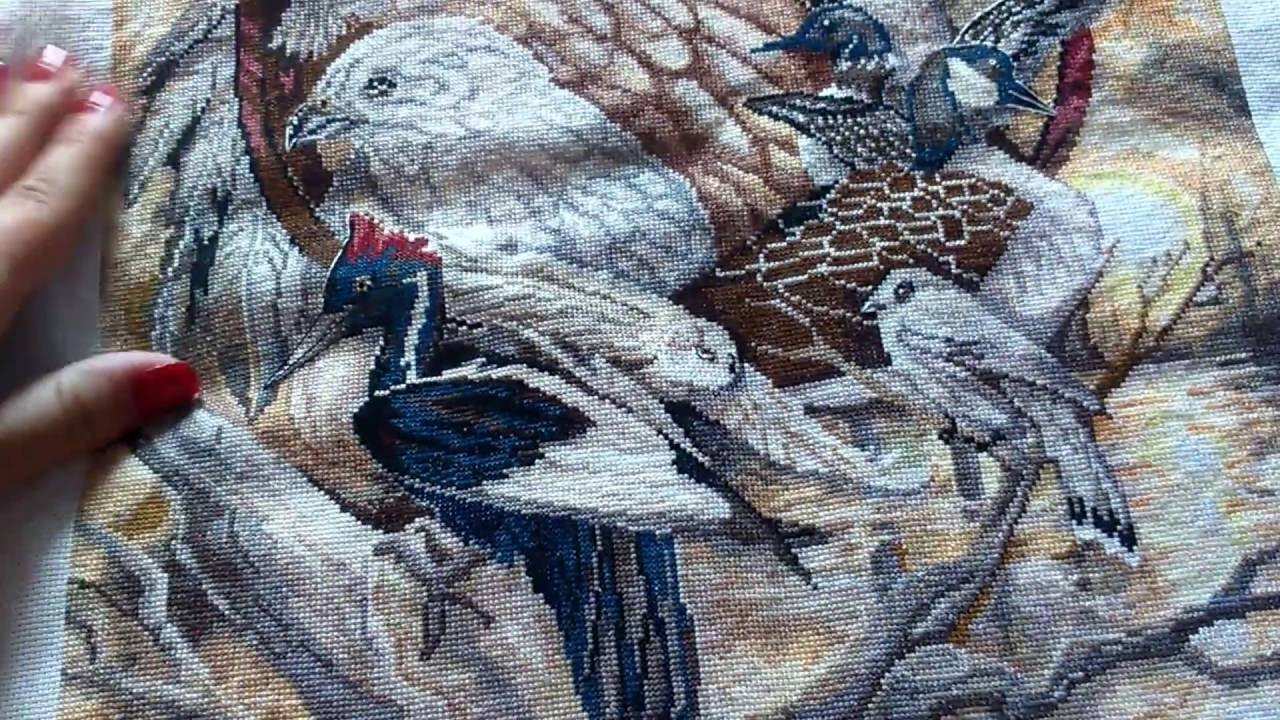 Вышивка птичий совет 45