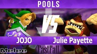 FF 2018 SSBM - JOJO (Link) vs Julie Payette (Donkey Kong, Fox) - Pools