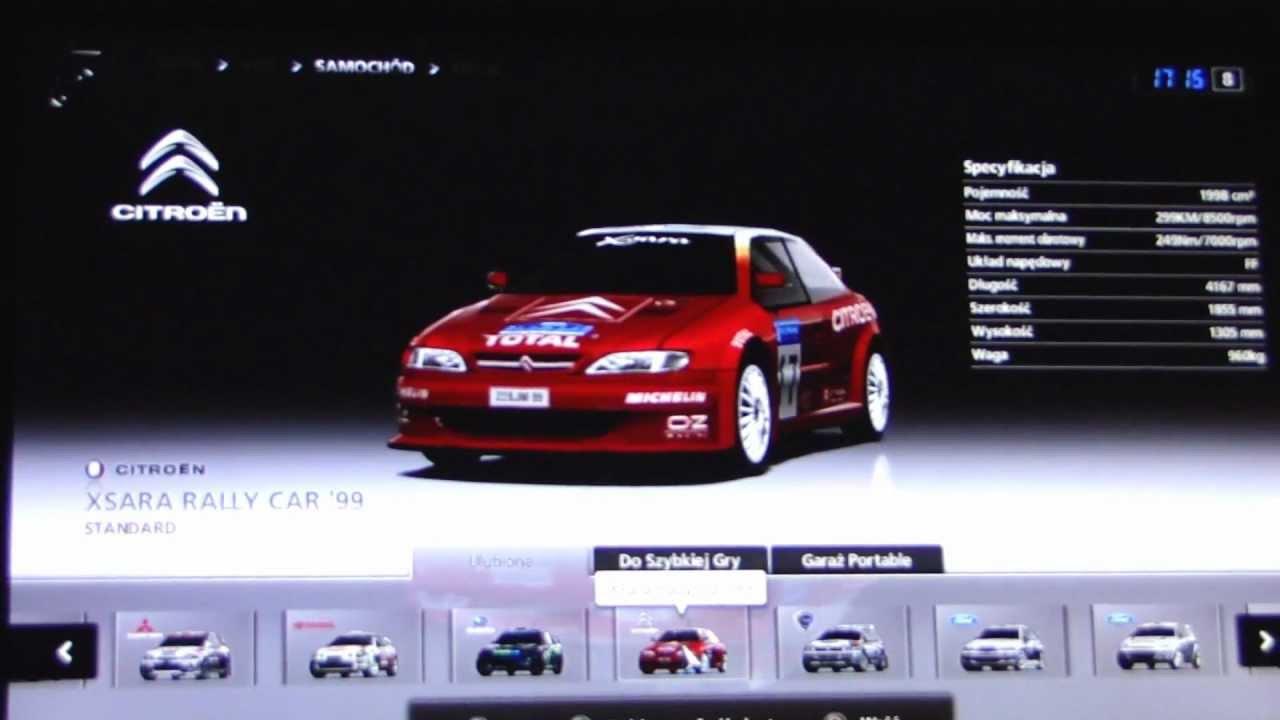 Gran Turismo 5 Rally Car List Youtube