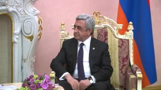 Serzh Sargsyan and Vladmir Putin meet in Yeravan