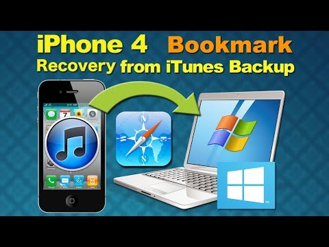 Deleted Data Recovery Software: Recover Deleted or Lost Bookmark from iPhone 4 on Windows