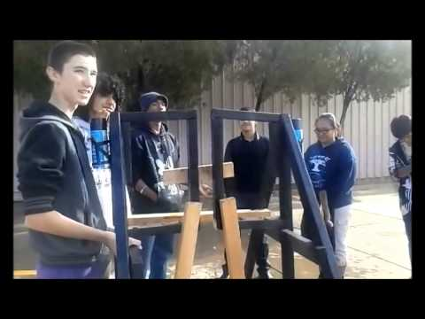 Attempt at a Trebuchet Launch - Team Darkness Tolleson Union High School