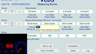 VW Golf 5 ABS wheel speed sensor test VCDS-VAG - Measure blocks 03-ABS