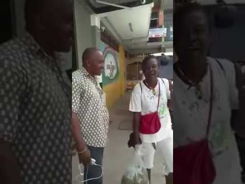 Woman selling natural viagra on the streets of Jamaica (September 2016)