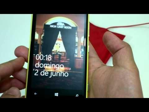 Demonstração: Nokia Lumia 920. acessórios e Windows Phone 8