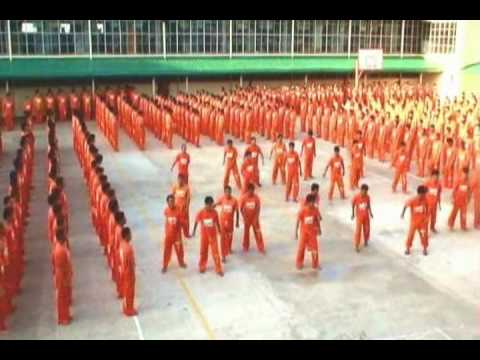 Inmates of CPDRC Philippines dancing the Radio Gaga by the Queen.