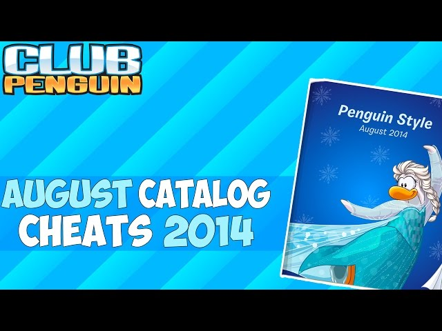 Club Penguin: August 2014 Frozen Clothing Catalog Cheats