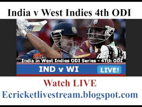 Watch India v West Indies 4th ODI Live Streaming Video Online