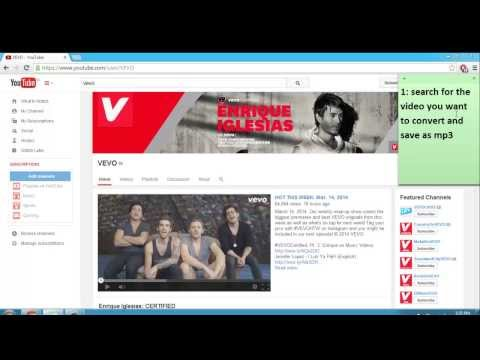 Save Youtube Video as MP3 without any software.