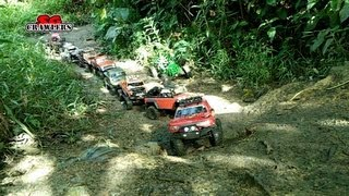 Mudding! Mud SPA! 10 trucks mud terrain Trail finder 2 Axial wraith scx10 Jeep RC offroad adventures
