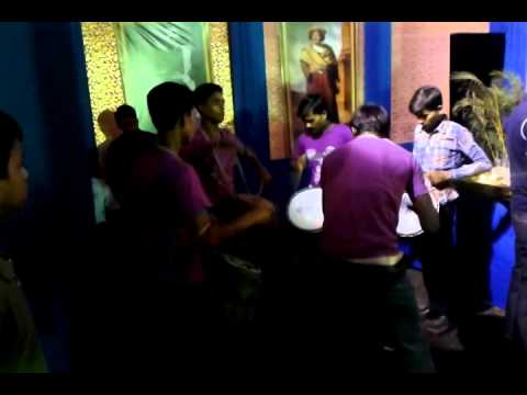 Dhol, Tasha Are Played By Band Party In Durga Puja Pandle. video