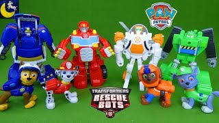 Paw Patrol Pups New Friends Transformers Rescue Bots Transforming Autobots Fire Truck Robot Toys
