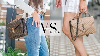 LV POCHETTE METIS VS. YSL COLLEGE - 5 Minute Friday *New Series* | LuxMommy