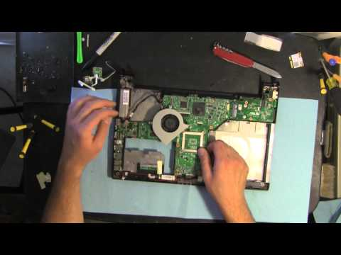ASUS U43JC take apart video. disassemble. how to open disassembly