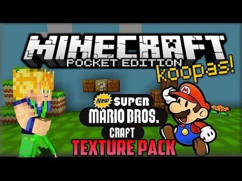 Minecraft PE - New Super Mario Craft - Texture Pack