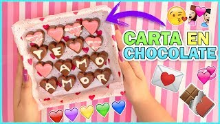 DIY CARTA DE CHOCOLATE - San Valentin KD