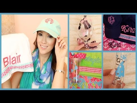 Beach Bags & Wine Glasses & Monograms OH MY! What's New at Glitzy Glam!