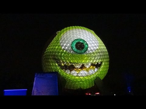 180 Foot GIANT Mike Wazowski on Epcot's Spaceship Earth - Disney Kicks off Monstrous Summer!