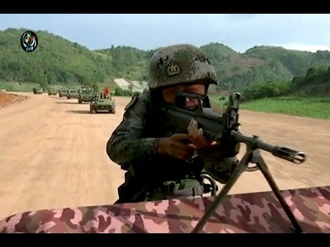 WATCH: China flexes military might with Burma border drills