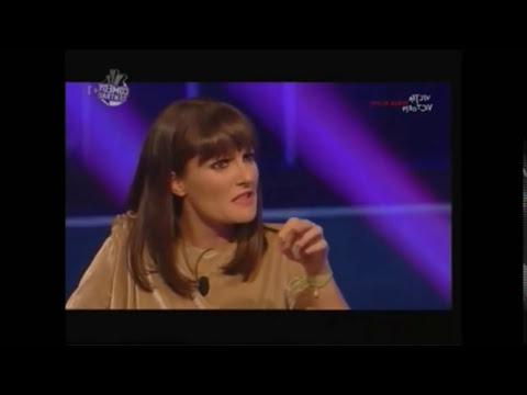 FIGURA DI MERDA COLOSSALE IN TV - E. GREGORACI