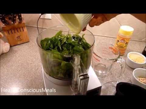 Simple Vegan Pesto Recipe - How To Make Vegan Pesto - HealthConsciousMeals