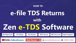 How to e-file TDS returns with Zen e TDS Software