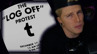 """Massive Tumblr """"log off"""" Protesting Sensitive Content Ban (Remain Calm)"""