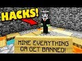 HACKER FORCED TO MINE OR PERM BAN! (Catching Hacker Games)