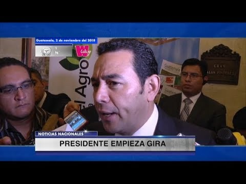 Jimmy Morales inicia gira para discutir sobre la crisis migratoria del Triángulo Norte | 02Nov