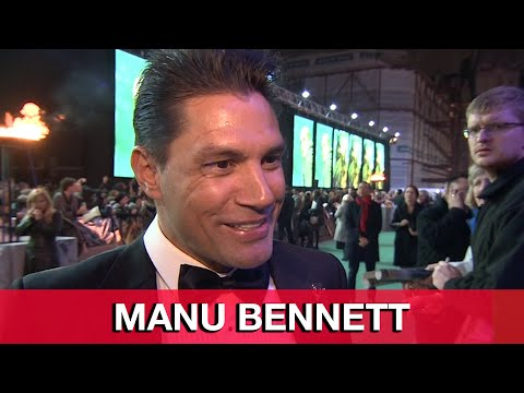 The Hobbit 3: Azog Manu Bennett Interview - The Battle of the Five Armies World Premiere