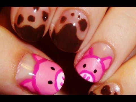 Cute Piggy Nail Art